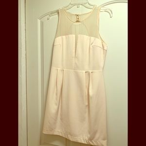 Cute Cream dress with mesh detailing